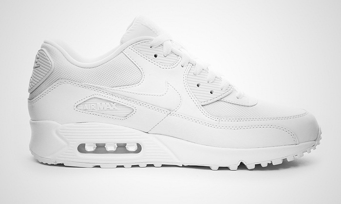 all white nike air max 90