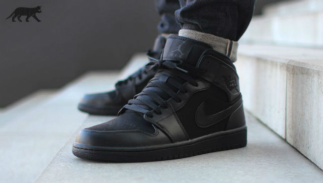 air jordan 1 all black